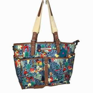 Lily Bloom Dog Print Oversized Tote